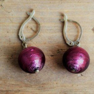 Sterling Silver Brushed Satin Ball Drop Earrings